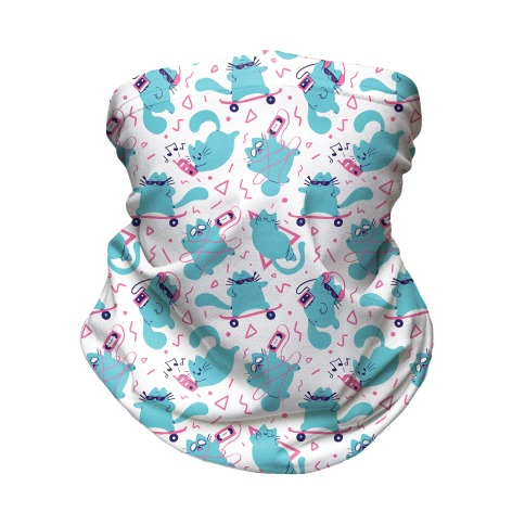 90's Cats Pattern Neck Gaiter