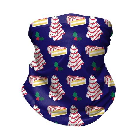 Holiday Tree Cake Pattern Neck Gaiter