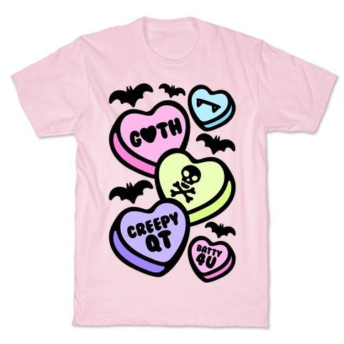 Goth Candy Hearts T-Shirt