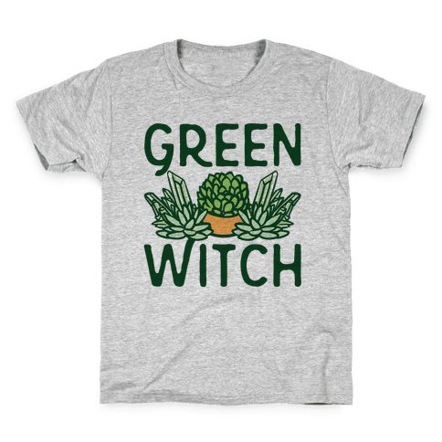 Green Witch Kids T-Shirt