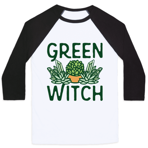 Green Witch Baseball Tee