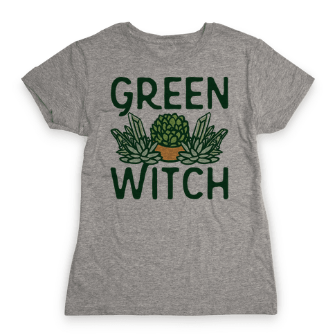 Green Witch Womens T-Shirt