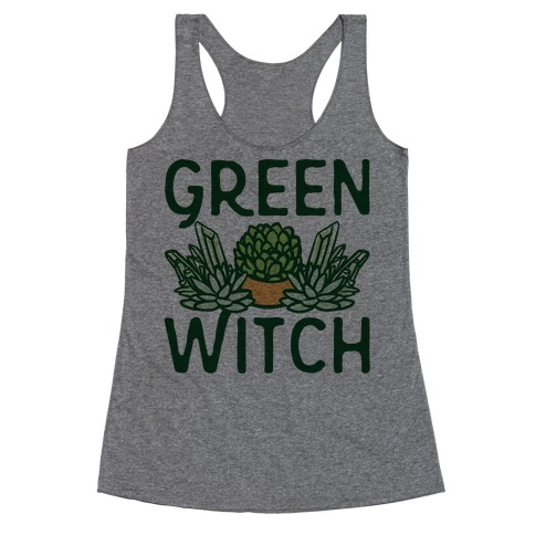 Green Witch Racerback Tank Top