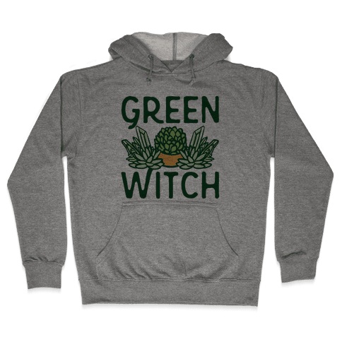 Green Witch Hooded Sweatshirt