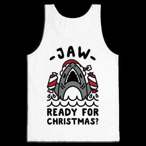 Jaw Ready For Christmas? Santa Shark Tank Top