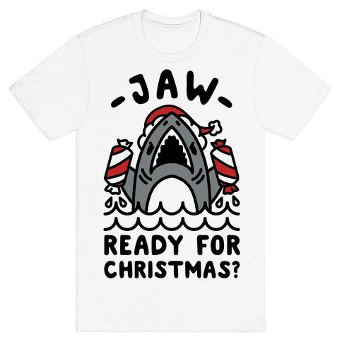 Jaw Ready For Christmas? Santa Shark T-Shirt
