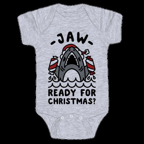 Jaw Ready For Christmas? Santa Shark Baby Onesy