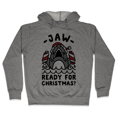 Jaw Ready For Christmas? Santa Shark Hooded Sweatshirt