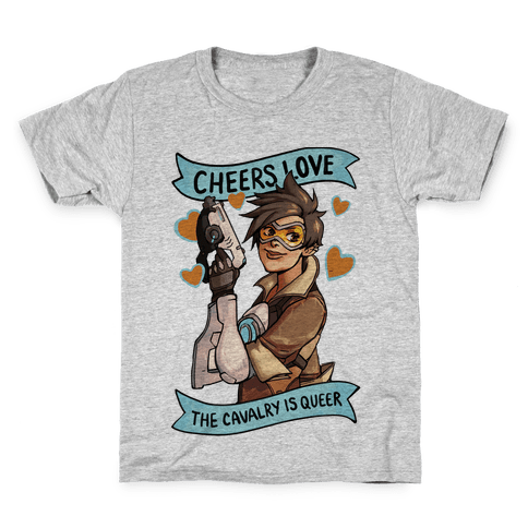 Cheers Love The Cavalry Is Queer (Illustration) Kids T-Shirt