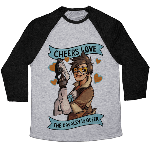 Cheers Love The Cavalry Is Queer (Illustration) Baseball Tee