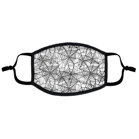 Spider Web Pattern Flat Face Mask