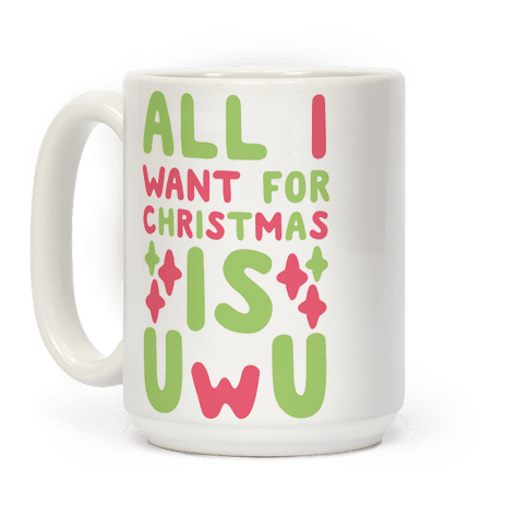 All I Want for Christmas is UwU Coffee Mug