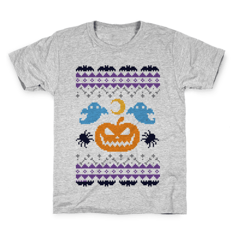 Ugly Halloween Sweater Kids T-Shirt