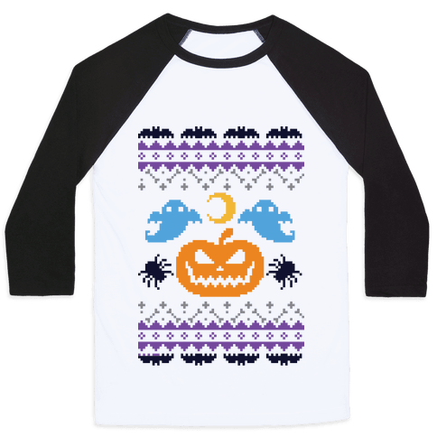 Ugly Halloween Sweater Baseball Tee