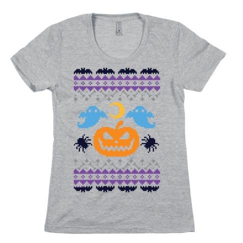 Ugly Halloween Sweater Womens T-Shirt