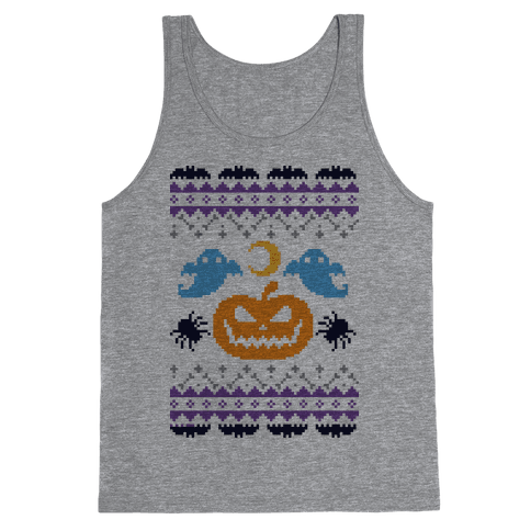 Ugly Halloween Sweater Tank Top
