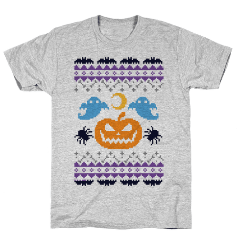 Ugly Halloween Sweater Mens T-Shirt