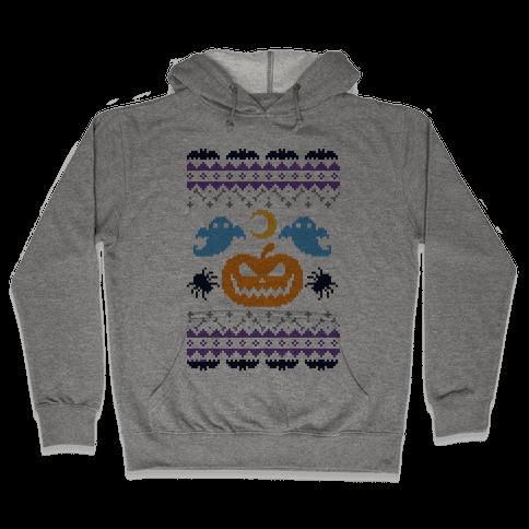 Ugly Halloween Sweater Hooded Sweatshirt
