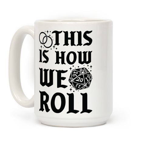 This is How We Roll Groom D20 Coffee Mug