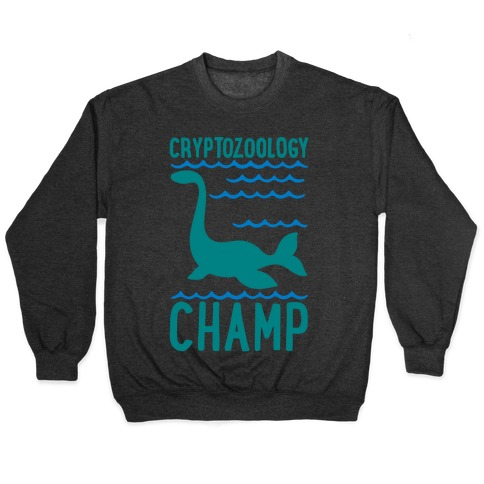 Cryptozoology Champ White Print Pullover