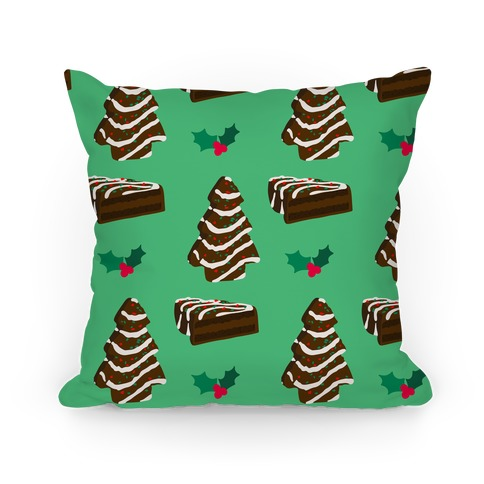 Holiday Tree Cake Pattern (Chocolate) Pillow