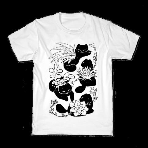 Succulent Cats Kids T-Shirt