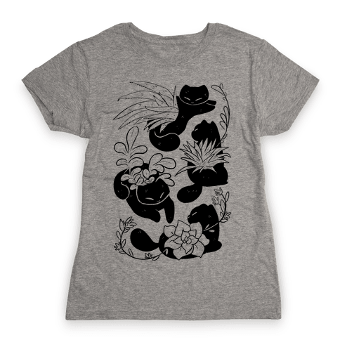 Succulent Cats Womens T-Shirt