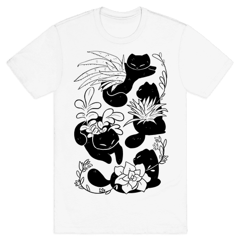 Succulent Cats Mens/Unisex T-Shirt