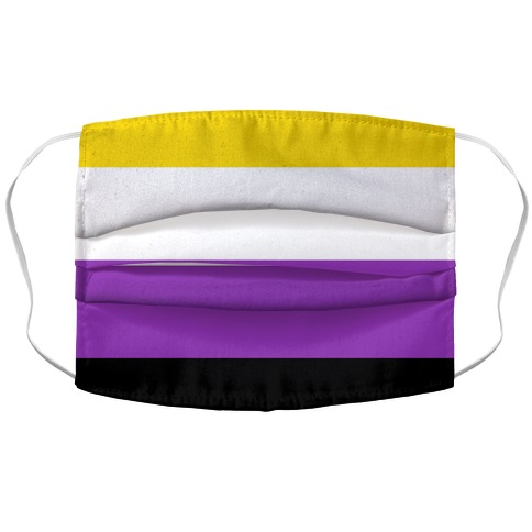 Non Binary Pride Flag Accordion Face Mask