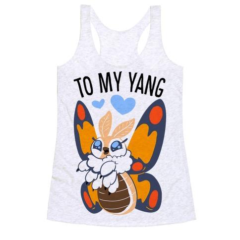 You're The Yin To My Yang (Mothra) Racerback Tank Top