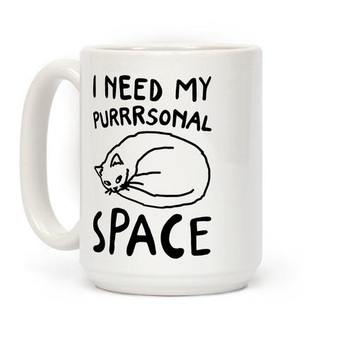 I Need My Purrrsonal Space Coffee Mug