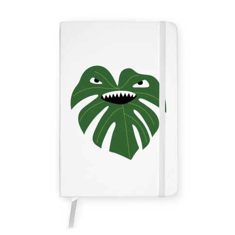 Monstera Leaf Monster Notebook