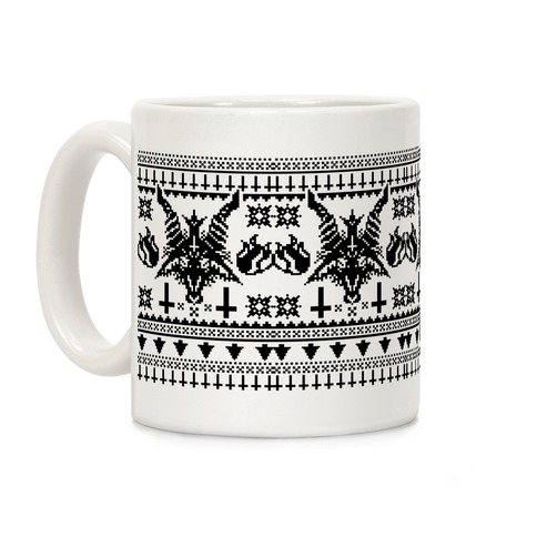 Baphomet Ugly Christmas Sweater Coffee Mug
