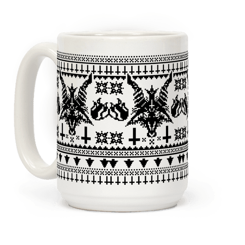Baphomet Ugly Christmas Sweater  Coffee Mug