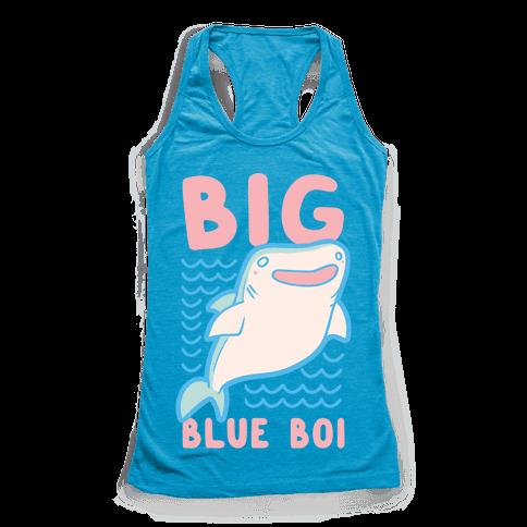 Big Blue Boi - Whale Shark Racerback Tank Top