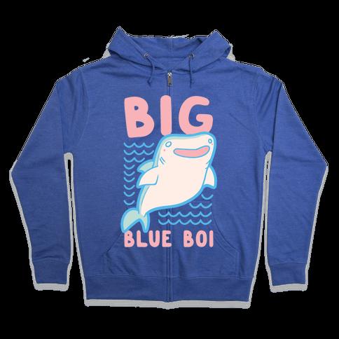 Big Blue Boi - Whale Shark Zip Hoodie