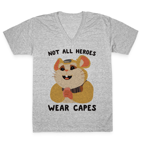 Not All Heroes Wear Capes Hammond V-Neck Tee Shirt