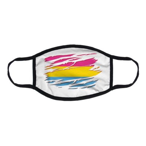 Ripped Shirt: Pan Pride Flat Face Mask