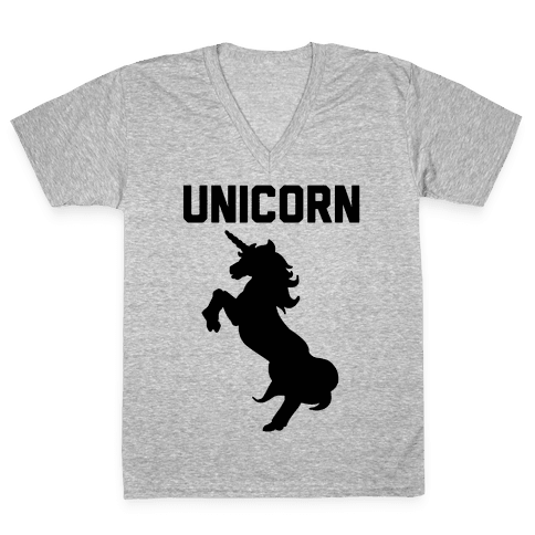 Unicorn Sisters Pair 1 V-Neck Tee Shirt