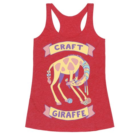 Craft Giraffe  Racerback Tank Top