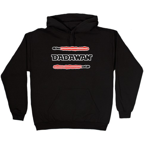 Padawan Dadawan Star Wars Parody Red Light Sabers Hooded Sweatshirt