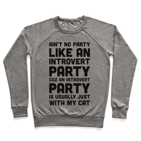 Ain't No Party Like An Introvert Party Pullover