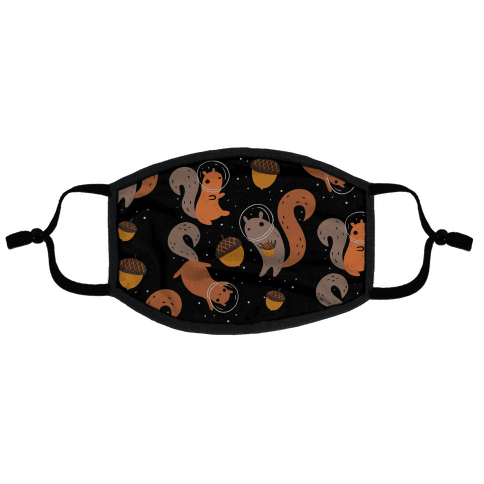 Squirrels In Space Flat Face Mask