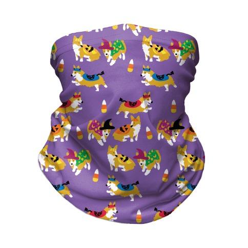 Corgi Halloween Pattern Neck Gaiter
