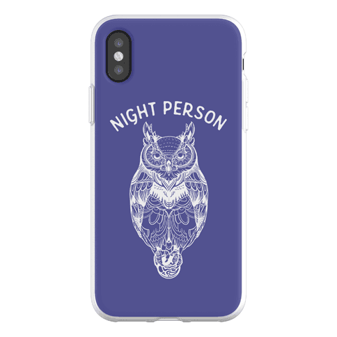 Night Person Owl Phone Flexi-Case