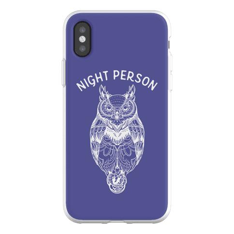 Night Person Owl Phone Flexi-Case