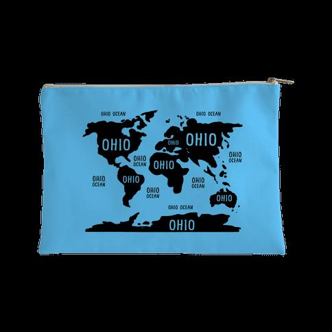 The Ohio World Map Accessory Bag
