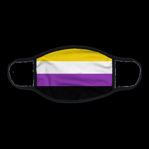 Non Binary Pride Flag Flat Face Mask