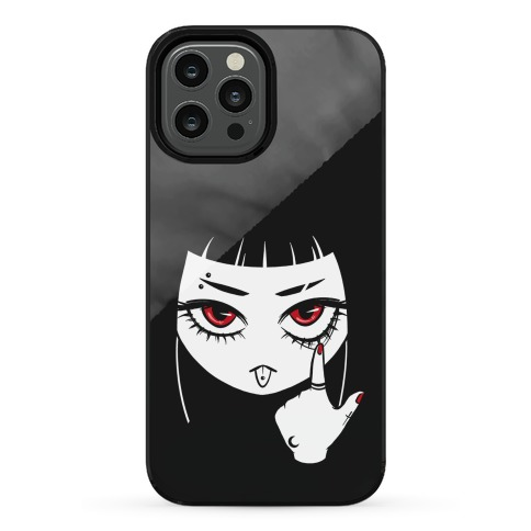 Goth Girl (face only) Phone Case