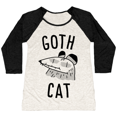 Goth Cat Baseball Tee